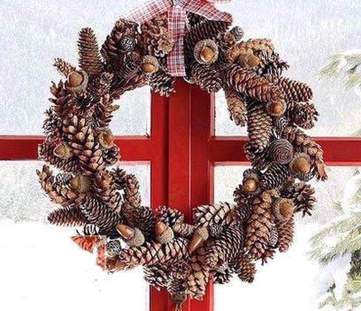Новогодние поделки своими руками из еловых шишек