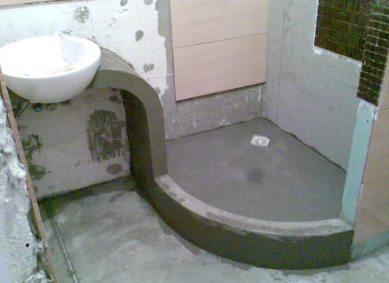 Душевая кабина Поддон из бетона своими руками