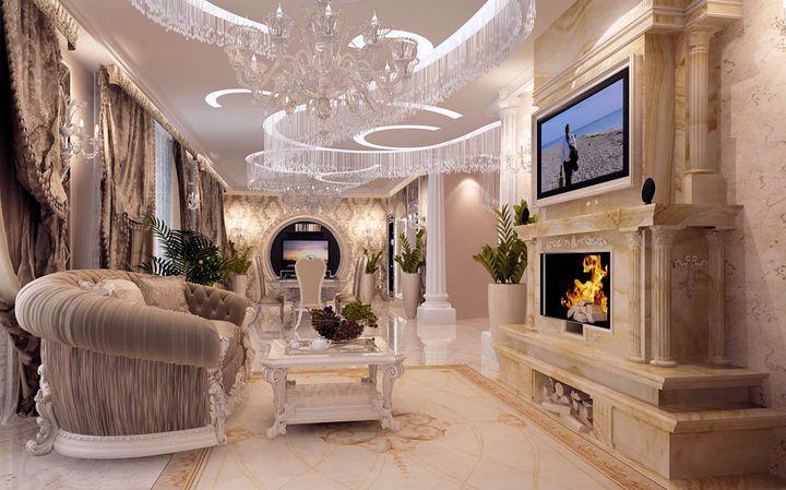 Дизайн классика зала