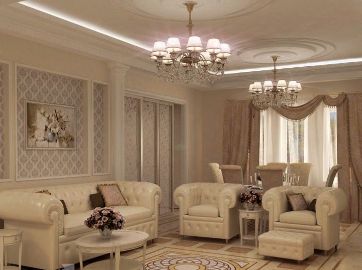 Дизайн гостиной гипсокартон фото