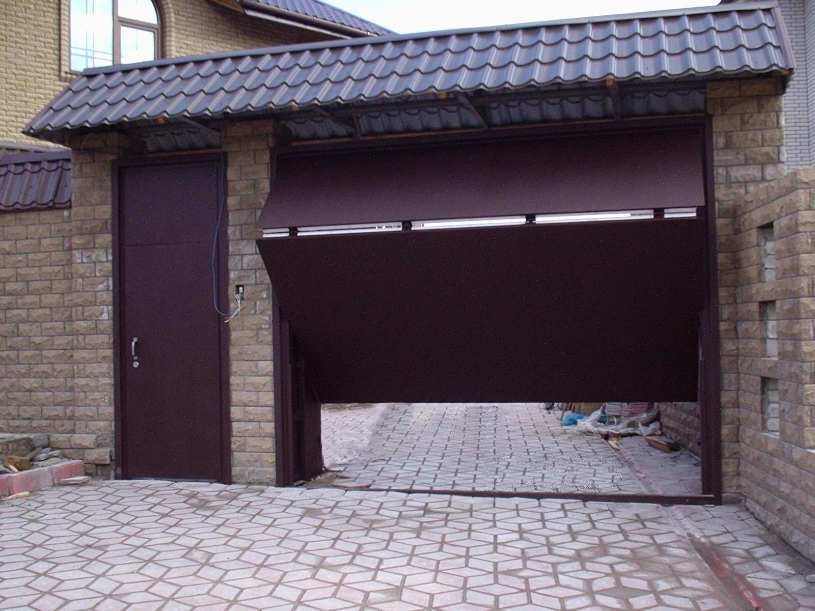 Подъёмные гаражные ворота своими руками - монтаж 1