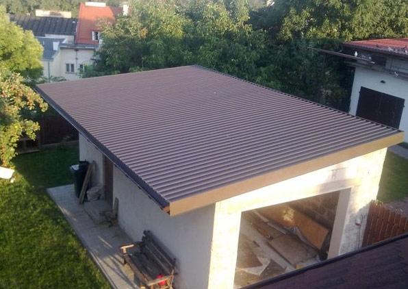Крыша односкатная для гаража из профнастила своими руками