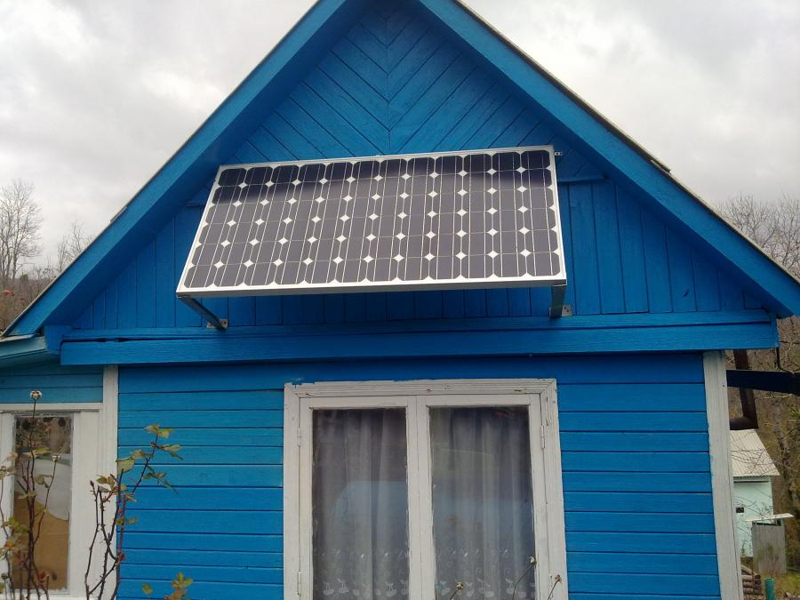 Солнечные батареи на даче своими руками