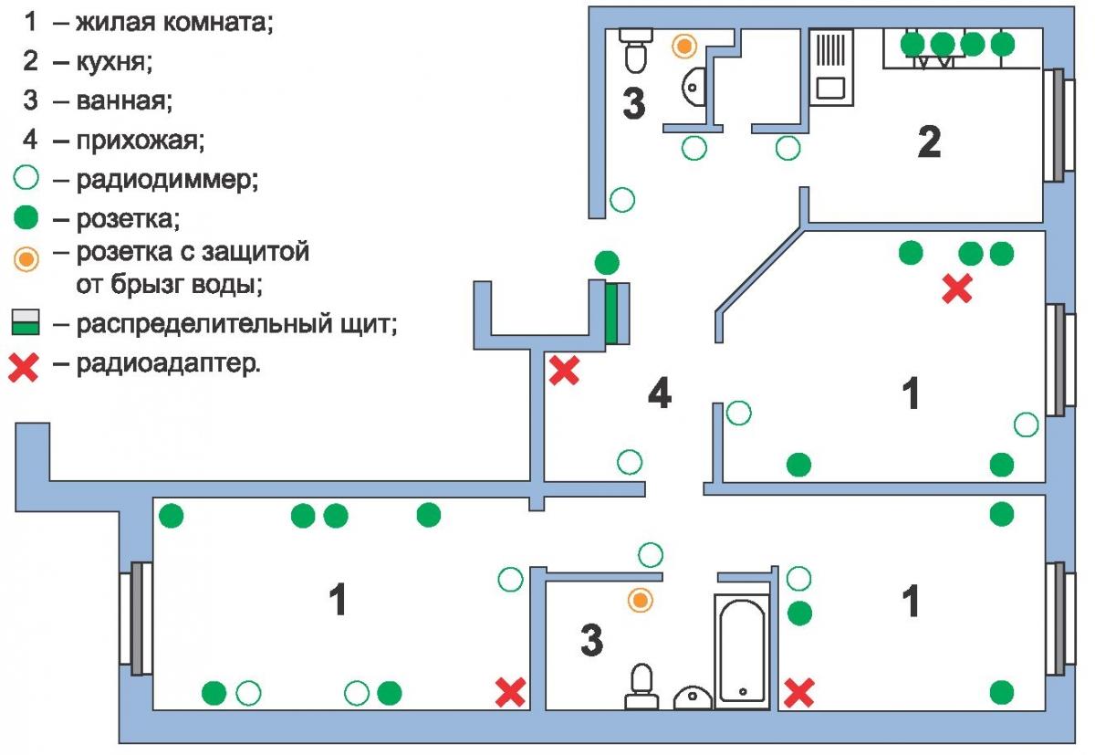 Схема монтажа электропроводки в доме фото 98