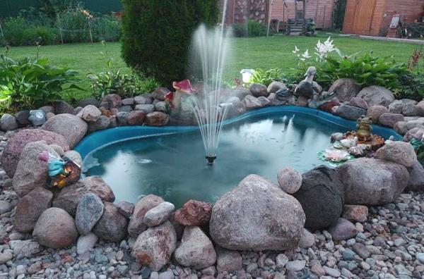 Сделать своими рукам садовые фонтаны
