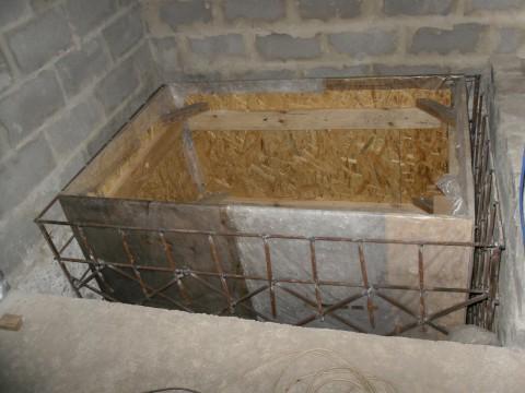 Как залить купель в бане
